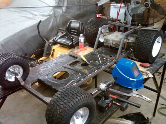 The Process To Build A Racing Lawn Mower Building a Strong Frame
