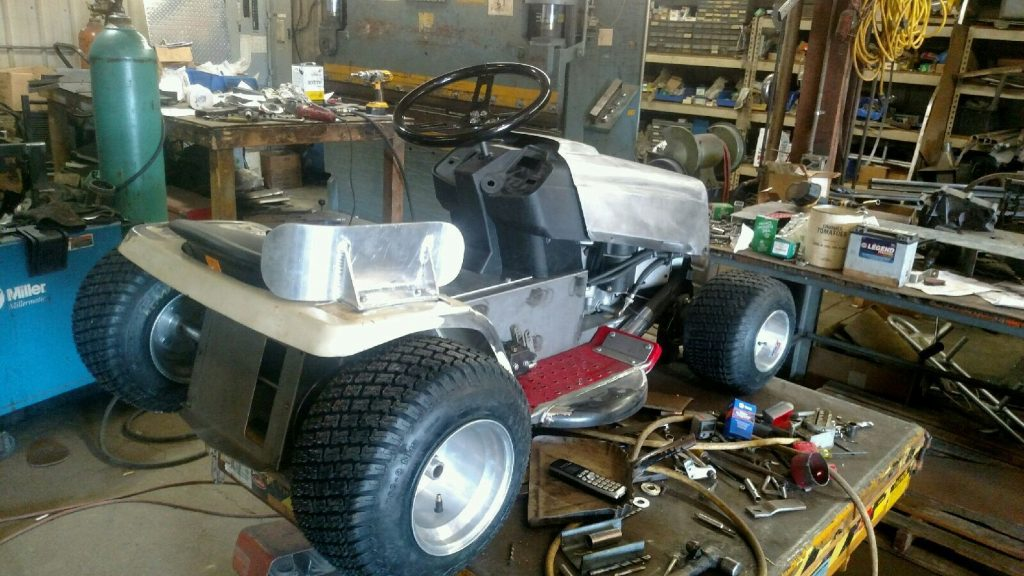 The Process To Build A Racing Lawn Mower Install the Internal Components