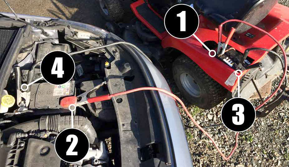 The Process To Charge A Lawn Mower Battery With A Car