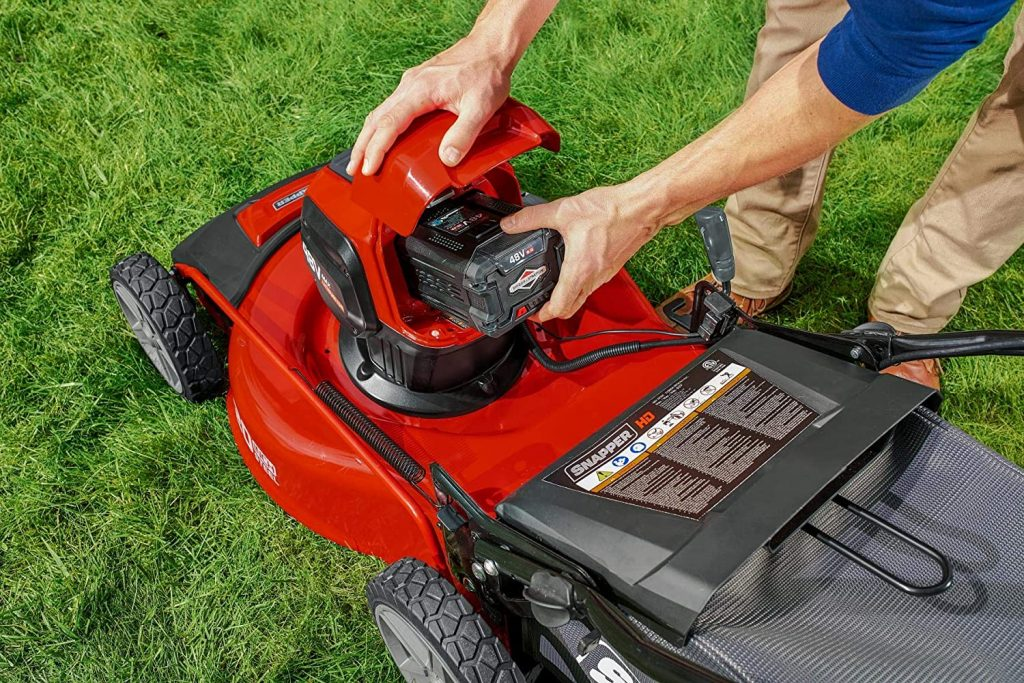 electric lawn mower battery