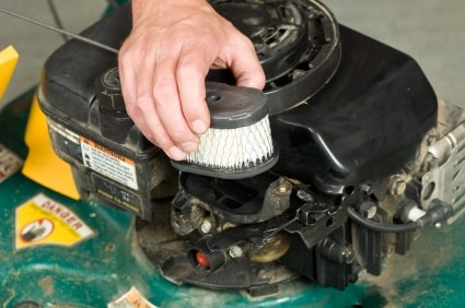 lawn mower Change the oil filter