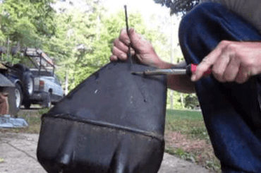 How To Fix Plastic Gas Tank On Lawn Mower