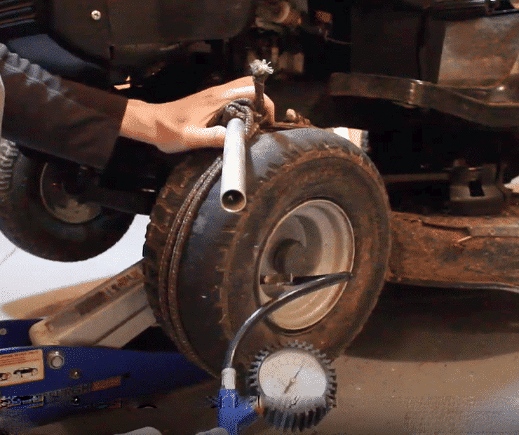 How To Fix Lawn Mower Tire Off Rim