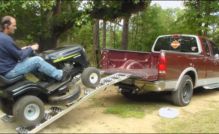 Transport A Riding Lawn Mower